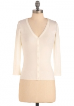 Charter School Cardigan in Ivory at Modcloth
