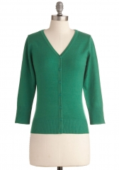 Charter School Cardigan in Kelly Green at ModCloth