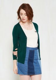 Charter School Cardigan in Peacock at ModCloth