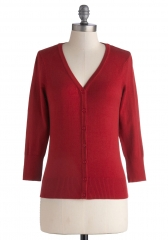 Charter School Cardigan in Red at ModCloth