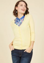 Charter School Cardigan in Yellow at ModCloth