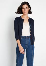 Charter School Crew Neck Cardigan by Modcloth at Modcloth