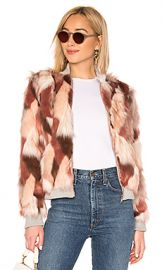 Chaser Faux Fur Bomber Jacket in Pink Calico from Revolve com at Revolve