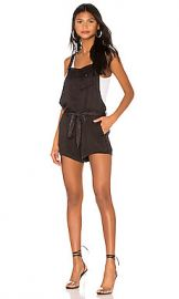 Chaser Flouncy Shortalls in Black Cloud Wash from Revolve com at Revolve