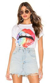 Chaser Rainbow Lips Tee in Rainbow Lips from Revolve com at Revolve
