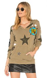 Chaser Star Patch Hoodie in Earth from Revolve com at Revolve