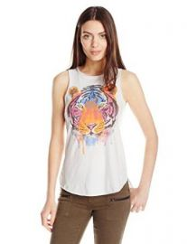 Chaser Womenand39s Watercolor Tiger Graphic Sleeveless Tee at Amazon