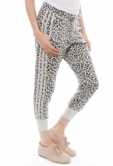 Chaser leopard print slouchy pants at Singer 22
