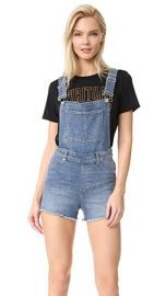 Cheap Monday Bib Spray Blue Noise Overalls at Shopbop