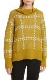 Check Alpaca Blend Sweater at Nordstrom