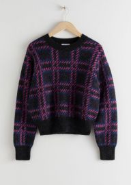Check Alpaca Wool Blend Sweater at & Other Stories