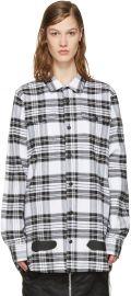 Check Diagonal Spray Shirt by Off-White at Ssense
