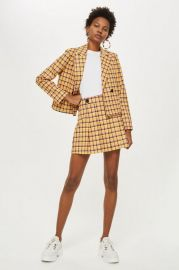 Check Kilt Mini Skirt at Topshop