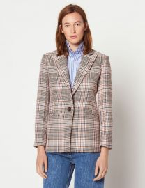 Check Tailored Jacket at Sandro