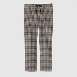 Check Wool Pants at Gucci
