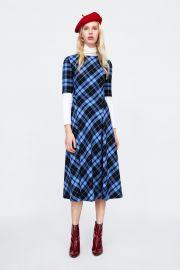 Check print dress at Zara
