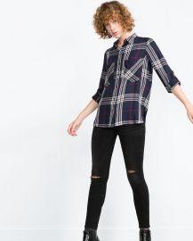 Check shirt at Zara