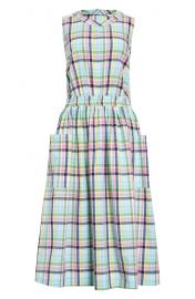 Check sleeveless cotton dress at Nordstrom