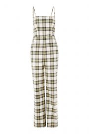 Checked Bustier Jumpsuit at Topshop
