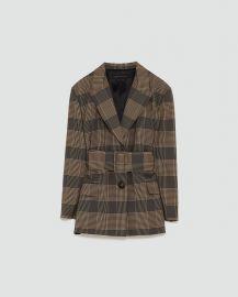 Checked Blazer by Zara at Zara