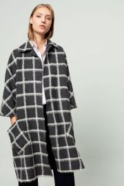 Checked Cloth Cape Checked Cloth Cape by Carolina Herrera at Carolina Herrera