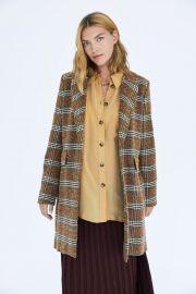 Checked Coat by Zara at Zara