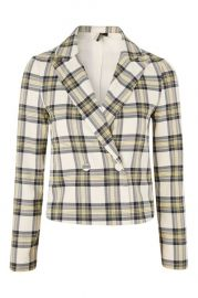 Checked Crop Jacket - Shop All Sale - Sale at Topshop