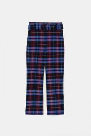 Checked Trousers with Belt by Zara at Zara