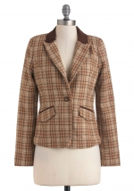 Checked blazer from Modcloth at Modcloth