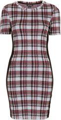Checked jacquard dress at Topshop