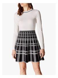 Checked skirt dress at Karen Millen