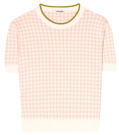 Checked top by Miu Miu at mytheresa.com