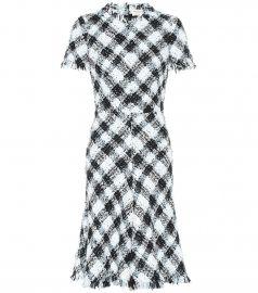 Checked tweed dress at Mytheresa