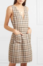 Checked woven mini dress at Net A Porter