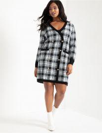 Checkered Sweater Dress at Eloquii