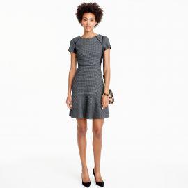 Checkered flutter dress at J. Crew