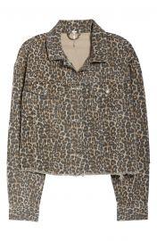 Cheetah Print Crop Cutoff Denim Jacket by Free People at Nordstrom