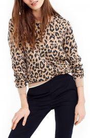 Cheetah Print Merino Wool Sweatshirt at Nordstrom