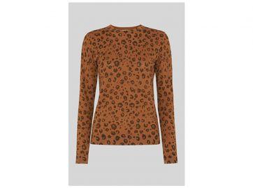 Cheetah Printed Sparkle Knit at Whistles