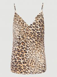 Cheetah Silk Cami at Frame