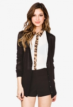 Cheetah trim shirt at Forever 21