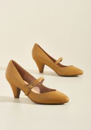 Chelsea Crew Reserved for Rollicking Mary Jane Heel in Dijon at ModCloth