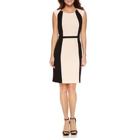 Chelsea Rose Sleeveless Colorblock Sheath Dress at JC Penney