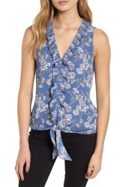 Chelsea28 Ruffle Tie Front Top   Nordstrom at Nordstrom