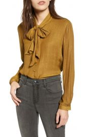 Chelsea28 Tie Neck Jacquard Blouse   Nordstrom at Nordstrom