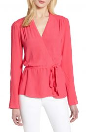 Chelsea28 Tie Waist Wrap Top at Nordstrom