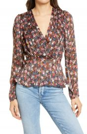 Chelsea28 Floral Print Peplum Blouse   Nordstrom at Nordstrom
