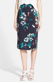 Chelsea28 High Waist Floral Pencil Skirt at Nordstrom