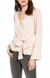 Chelsea28 Long Sleeve Wrap Blouse   Nordstrom at Nordstrom