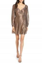 Chelsea28 Metallic Wrap Dress   Nordstrom at Nordstrom